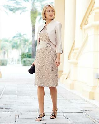 £29 • Buy Nightingales Lace Dress And Jacket Size 12 UK Wedding Guest Special Occasion