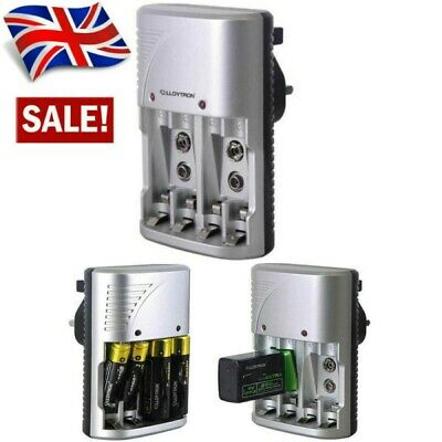 £9.15 • Buy Mains Intelligent Multi Battery Charger For AA AAA & 9V Sizes UK Plug-Charger