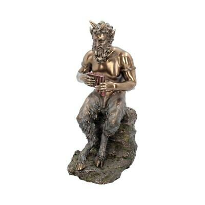 £34.99 • Buy Pan Ornament Mythical Bronze Greek Pagan God Figurine Gothic Wiccan Statuette