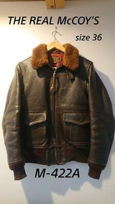 $818 • Buy REAL McCOY'S Authentic M-422A Goatskin Flight Jacket Size 36 Used From Japan