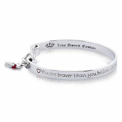 £39 • Buy Disney White Gold-Plated Winnie The Pooh Engraved Bangle By Couture Kingdom