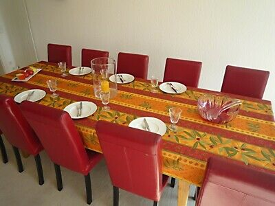 £30.31 • Buy Tablecloth Provence 150x350 CM Olives Terracotta Red From France Non-Iron