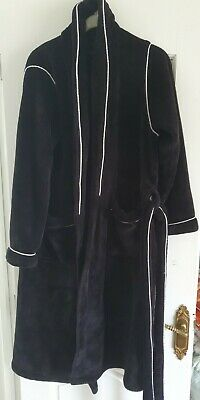 £7 • Buy Ladies Black Velour Dressing Gown Size Small From Next