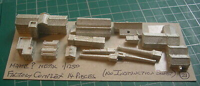£10.50 • Buy Factory Complex 14 Pieces Make Unknown, Scale 1/1200 1/1250 Ship Model