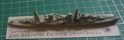 £16 • Buy HMS Arethusa RN WWII Light Cruiser By Superior, Scale 1/1200 1/1250 Ship Model
