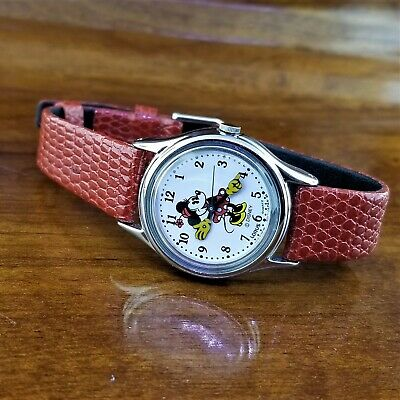 $ CDN115.38 • Buy Womens Lorus By Seiko Silver TN Animated Hands Minnie Mouse Watch 26MM