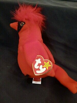 """$300 • Buy TY Beanie Baby """"Mac"""" The Cardinal RARE With Tag Errors"""