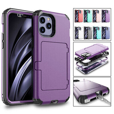 AU9.36 • Buy Hard Hybrid Armor Card Slots Case With Mirror For IPhone 12 PRO Xs Max 7 8 Plus