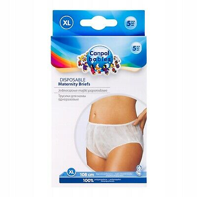 £5.99 • Buy PANTS CANPOL DISPOSABLE MATERNITY KNICKERS PREGNANCY POST PARTUM BRIEFS Size XL