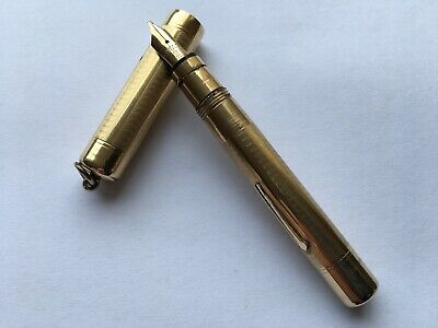 """$84.61 • Buy C1929-31 VINTAGE MABIE TODD&Co """"SWAN"""" GOLD PLATED METAL U.S.A. MADE FOUNTAIN PEN"""