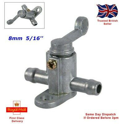 £5.39 • Buy Motorcycle Fuel Tank Tap On/Off Petcock Switch 8mm 5/16'' Inline *FAST DISPATCH*