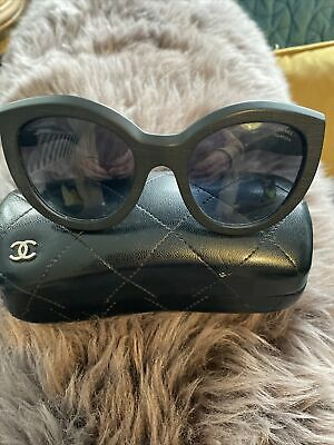 £100 • Buy Authentic And Unusual Wooden Frame Chanel Sunglasses In Case
