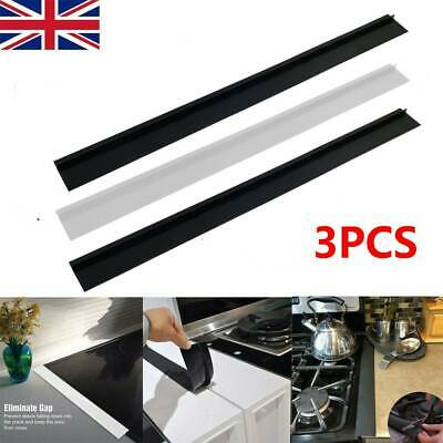 £7.99 • Buy 3X Silicone Stove Counter Gap Cover For Cooker Worktop Spill Guard Seal Filler V