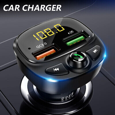 £12.49 • Buy Car Wireless Bluetooth FM Transmitter MP3 Player 2* USB Car Fast Charger Adapter