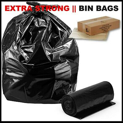 £7.90 • Buy Extra Strong Heavy Duty Black Bin Liners Rubbish Bags Waste Refuse Sacks