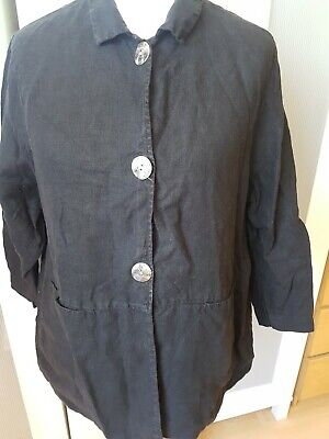 £5.80 • Buy Womens The Linen Press Black Size Large 3/4 Length Arms Shirt. In Good Condition