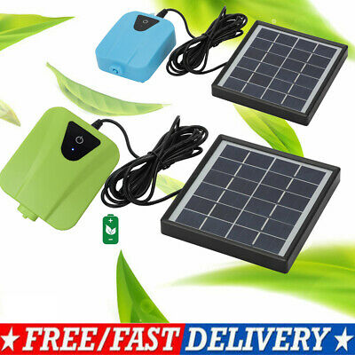 £18.35 • Buy Solar Powered Oxygenator Water Oxygen Pump Pond Aerator With 1 Air Stone