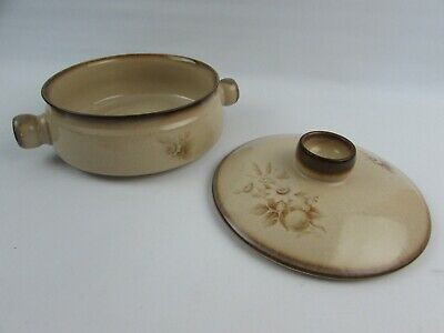 £9.95 • Buy Denby Stoneware Memories Pattern Casserole Dish Made In England Brown Floral VGC
