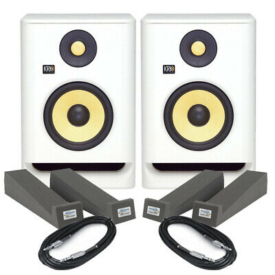 £274 • Buy KRK Rokit RP5 G4 White Noise (Pair) With Pads & Cables