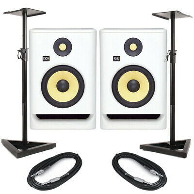 £379 • Buy KRK Rokit RP7 G4 White Noise (Pair) With Stands & Cables