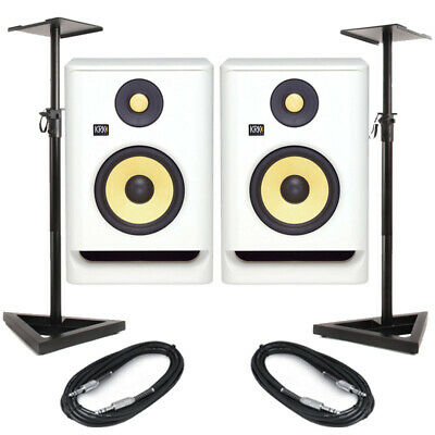 £307.50 • Buy KRK Rokit RP5 G4 White Noise (Pair) With Stands & Cables