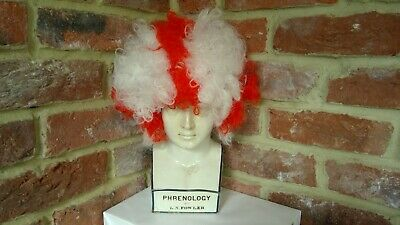 £4.99 • Buy England Red & White St George Cross Afro Wig One Size Football LIMITED STOCK