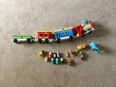 £3.20 • Buy Nice Old Vintage Fisher Price Circus Train Carriages And Figures Old Toy