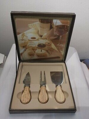 £5 • Buy Glass Cheese Board And Knife Set Boxed New