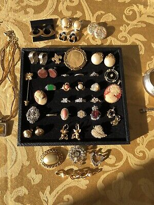 $ CDN36.54 • Buy Vintage Costume Jewelry Lot, Some Signed, Rings Pendants Necklaces Earrings