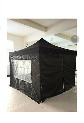 £149.90 • Buy SUPER STRONG GAZEBO 3x3m White Black Marquee PopUp Pyramid Waterproof Tent