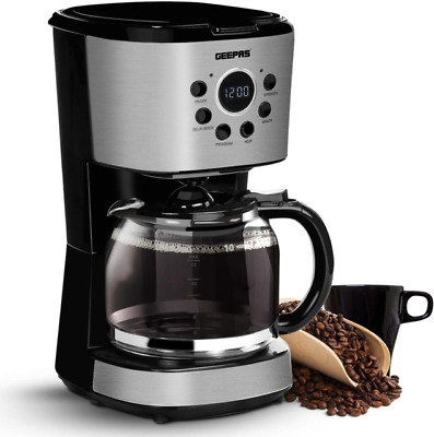 £28.90 • Buy Geepas Filter Coffee Maker 12 Cup Machine Automatic Setting Digital Timer