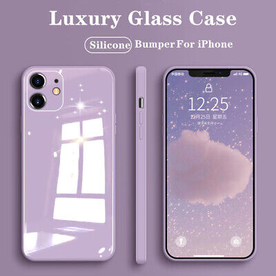AU12.99 • Buy Silicone Tempered Glass Case For IPhone 12 Pro Max 11 XR XS 8 7 SE2 Soft Bumper