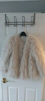 £30 • Buy H&M HM New Ladies Mongolian Shaggy Faux Fur Teddy  Coat Size S Fit 6-10 Sold Out