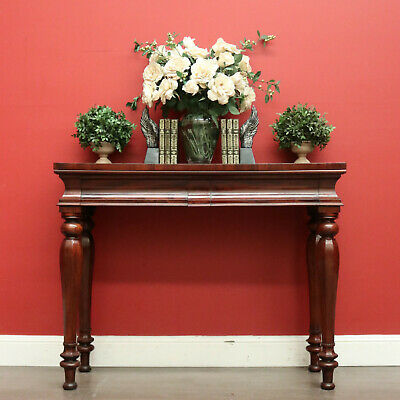 AU1195 • Buy Antique English Mahogany Hall Table With 2 Drawers To The Apron, Side Table