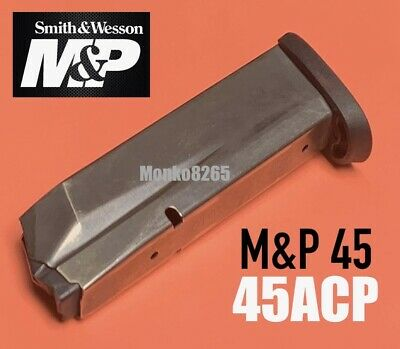 $25.77 • Buy Smith & Wesson MAGAZINE 19469 45acp 10 Round Silver For M&P FULL SIZE