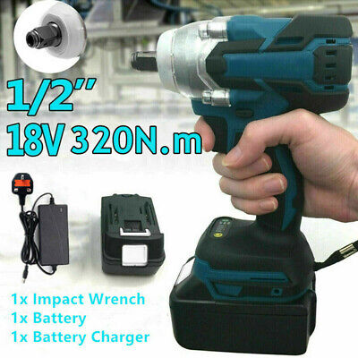 £24.60 • Buy 1/2  Cordless Impact Wrench Brushless Torque Replace With Charger & Battery