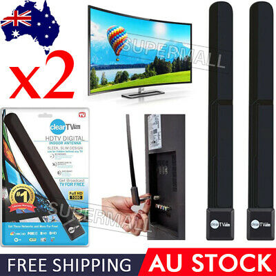 AU14.98 • Buy 2Pcs Digital TV Clear Key Satellite HDTV FREE Digital Indoor Antenna Ditch Cable