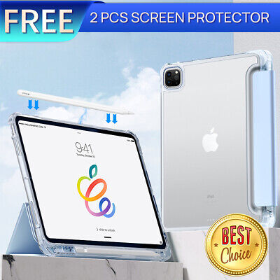 AU30.39 • Buy For Apple IPad Pro 11  12.9  2021 Smart Clear Case Shockproof Heavy Duty Cover