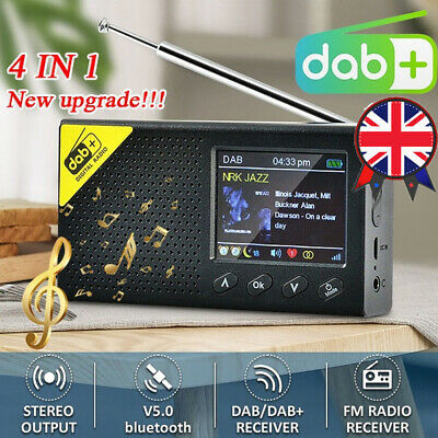 £29.99 • Buy Portable DAB Radio Digital FM Rechargeable Bluetooth5.0 Music Player 2.4  LCD