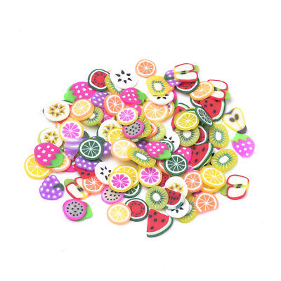£2.25 • Buy Polymer Clay Mini Fruit Slices Cabochons For Nail Art Decoration 6mm