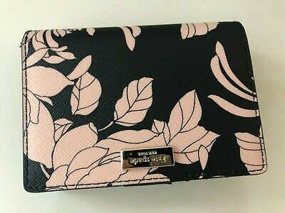 $ CDN42.51 • Buy NWT Kate Spade Floral Small Bifold Wallet/Purse In Black Pink