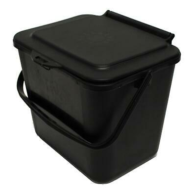 £7.99 • Buy Black 5L Kitchen Compost Caddy/Food Recycling Waste Bin – 5 Litre
