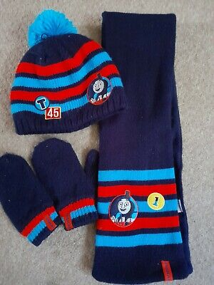 £2.50 • Buy M & S Thomas The Tank Engine Scarf Hat Mittens Age 3-6 Years