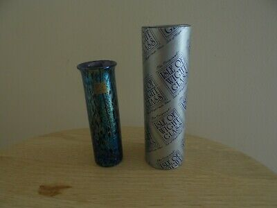 £19.99 • Buy Isle Of Wight Mulberry Glass Cylinder Vase With Box