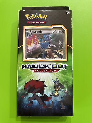 $19 • Buy Pokemon TCG 🔥🔥LUCARIO Knock Out Collection W/2 Booster Pks, 1Coin, 3Foil Cards