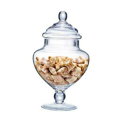 £24.84 • Buy  Clear Glass Apothecary Jars, Candy Buffet Display, Elegant Storage A H:9  D:5