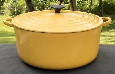 $ CDN454.24 • Buy Le Creuset Yellow No. 30 Enameled Cast Iron Dutch Oven 9 Quart Made In France