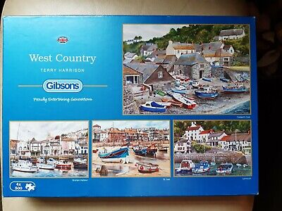 £4.20 • Buy GIBSONS JIGSAW  4 X 500 Pieces  West Country  By Terry Harrison
