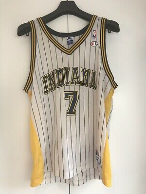 £32 • Buy Vintage Champion NBA Indiana Pacers 7 O'Neal Basketball Jersey White Large