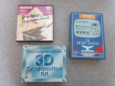 £3.95 • Buy Amstrad CPC * 3D Construction Kit, Draw & Music * 464, 664, 6128 Tested